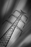 Tall power line tower Stock Image