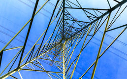 Tall power line tower Royalty Free Stock Photos