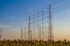 Tall radio antennas Royalty Free Stock Images