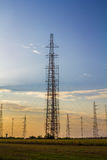Tall radio antennas Royalty Free Stock Photo