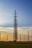 Tall radio antennas Royalty Free Stock Photo