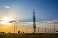Tall radio antennas Royalty Free Stock Photos