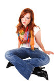 Tall red hair girl. Stock Photography