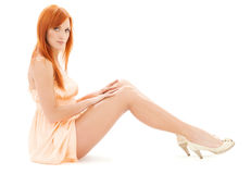 Tall redhead Royalty Free Stock Photo