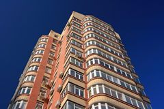 Tall residental building. Tall residential building ground view Stock Photography