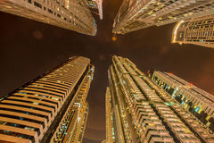 Tall residential buildings in Dubai Stock Photos