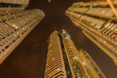 Tall residential buildings in Dubai Royalty Free Stock Photos