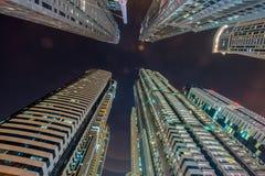 Tall residential buildings in Dubai Stock Photos