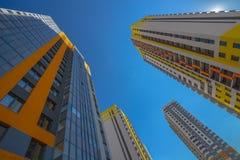 Tall residential houses Stock Photos