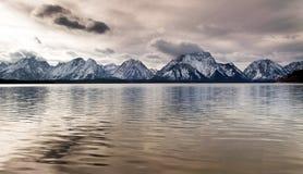 Jackson Lake Grand Tetons National Park Mountain Reflection Royalty Free Stock Images