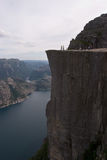 Tall rock. The Pulpit, Norway. Spectacular view stock photography