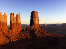 Tall Rock Formations in Monument Valley National P Stock Images