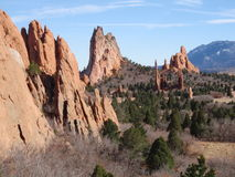 Tall Rock Formations. A number of rock formations found around Colorado Royalty Free Stock Photo
