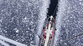 Tall sailing ship in Antarctica royalty free stock photo