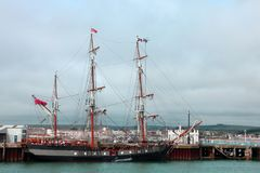 Tall sailing ship. The Earl of Pembroke. Royalty Free Stock Images