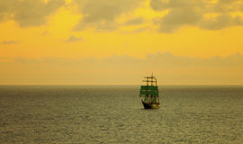 Tall sailing ship at sea Stock Photography