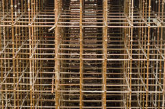 Tall Scaffolding. Scaffolding that reaches very high. Preparation for bridge construction royalty free stock photos