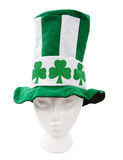 Tall shamrock hat with clipping path Stock Photos