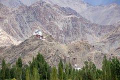 Tall Shanti Stupa in Leh, Ladakh, India Stock Image