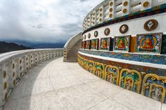 Tall Shanti Stupa near Leh - Ladakh - India Royalty Free Stock Image