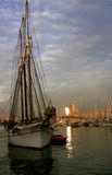Tall ship. A tall ship docked in Barcelona Royalty Free Stock Images