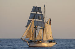 Tall ship. Sails in Southern California during a  event Stock Photo