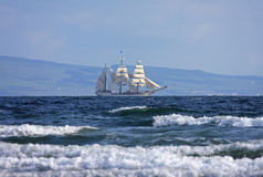 Tall ship. Under sail in Scotland Royalty Free Stock Photo