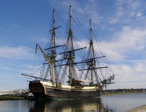 Tall Ship. The Tall Ship Friendship, docked in Salem, Massachusetts Stock Photo
