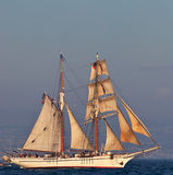 Tall Ship. Vintage Tall Ship sailing on high seas Royalty Free Stock Photos