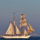 Tall Ship. Vintage Tall Ship sailing on high seas royalty free stock photos