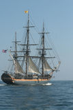 Tall Ship 6616. Tall Ship off Pt. Loma in San Diego royalty free stock image