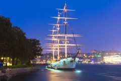 Tall ship ''AF Chapman'' in Stockholm, Sweden Stock Images