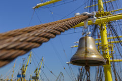 Tall ship alarm bell Stock Photography