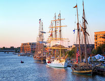 Tall Ship Celebration in Bay City Michigan Stock Photos