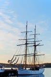 Tall Ship at  dawn. Oslo Norway Royalty Free Stock Images