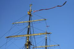 Tall Ship Denmark at Port of Cadiz Spain Royalty Free Stock Images