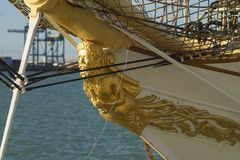 Tall Ship Denmark at Port of Cadiz Spain Royalty Free Stock Photos