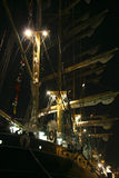 Tall ship. Detail of old sailing ship royalty free stock image