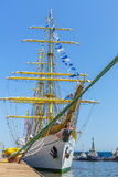 Tall ship at dock Stock Photos