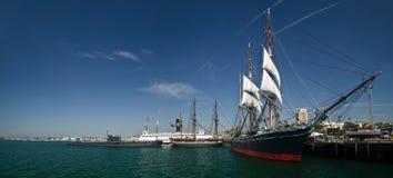 Tall ship docked royalty free stock photos