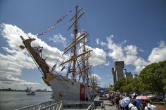 Tall ship Eagle Stock Images
