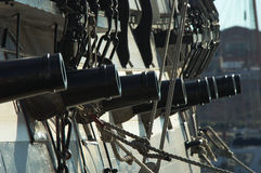 Tall Ship; Eight Guns. Stock Photos