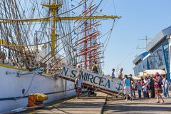 Tall ship embarkement Stock Images