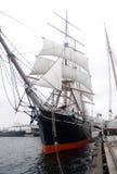 Tall Ship Figurehead. A tall ship docked in a harbor Stock Photography