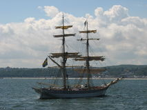 Tall ship in Gdynia Stock Images