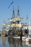 Tall ship Gotheborg moored Royalty Free Stock Images