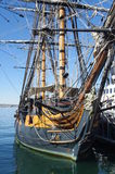 Tall ship at the harbor Royalty Free Stock Images