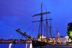 Tall ship in the harbor of Copenhagen Denmark Stock Photography
