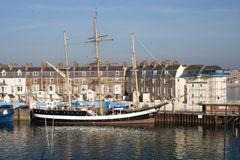 Tall ship in harbour Royalty Free Stock Photo
