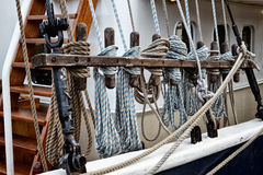 Tall Ship Lines Royalty Free Stock Photography